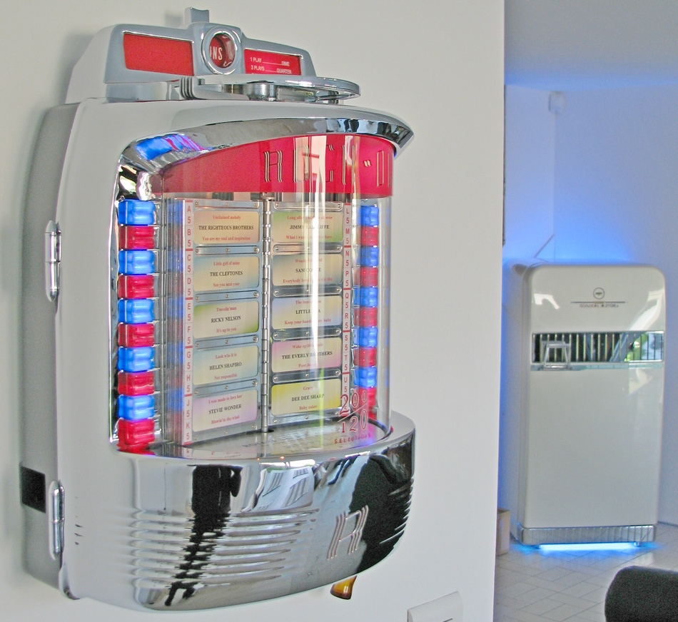 Rock Ola 1555 wallbox jukebox en fonctionnement